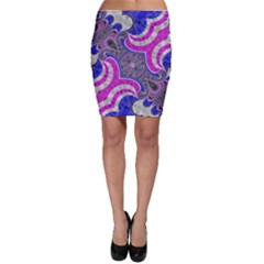 Pink Black Blue Abstract  Bodycon Skirts