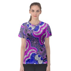 Pink Black Blue Abstract  Women s Sport Mesh Tees