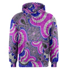 Pink Black Blue Abstract  Men s Pullover Hoodies