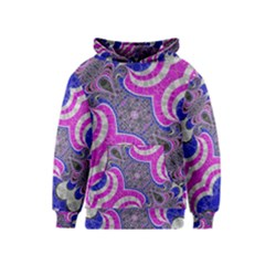 Pink Black Blue Abstract  Kid s Pullover Hoodies