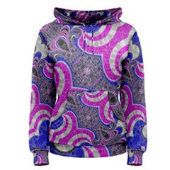 Pink Black Blue Abstract  Women s Pullover Hoodies