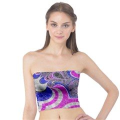 Pink Black Blue Abstract  Women s Tube Tops