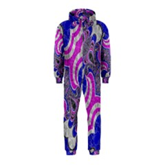 Pink Black Blue Abstract  Hooded Jumpsuit (Kids)