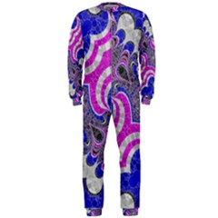 Pink Black Blue Abstract  Onepiece Jumpsuit (men)