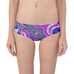 Pink Black Blue Abstract  Classic Bikini Bottoms
