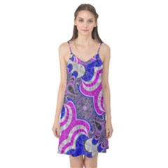 Pink Black Blue Abstract  Camis Nightgown