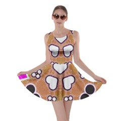 Pink Black Yellow Abstract  Skater Dresses