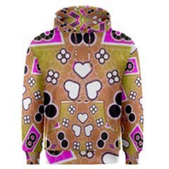 Pink Black Yellow Abstract  Men s Pullover Hoodies