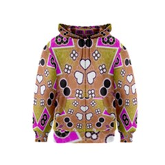 Pink Black Yellow Abstract  Kids Zipper Hoodies