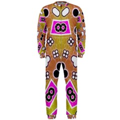 Pink Black Yellow Abstract  OnePiece Jumpsuit (Men)