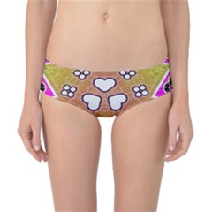 Pink Black Yellow Abstract  Classic Bikini Bottoms