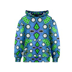 Florescent Blue Green Abstract  Kid s Pullover Hoodies