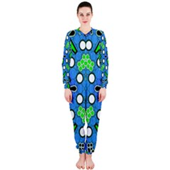 Florescent Blue Green Abstract  OnePiece Jumpsuit (Ladies)