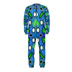 Florescent Blue Green Abstract  OnePiece Jumpsuit (Kids)