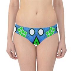 Florescent Blue Green Abstract  Hipster Bikini Bottoms