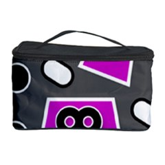 Grey Pink Abstract  Cosmetic Storage Cases