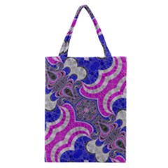 Beautiful Blue Black Abstract  Classic Tote Bags