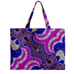 Beautiful Blue Black Abstract  Zipper Tiny Tote Bags