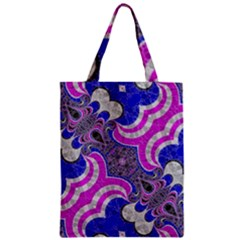 Beautiful Blue Black Abstract  Zipper Classic Tote Bags