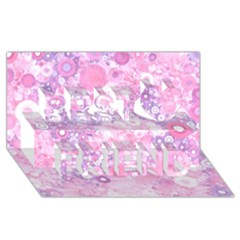 Lovely Allover Ring Shapes Flowers Pink Best Friends 3d Greeting Card (8x4)