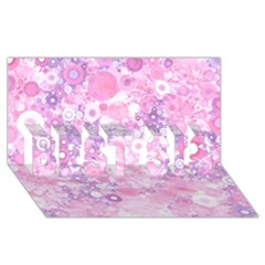 Lovely Allover Ring Shapes Flowers Pink Best Sis 3d Greeting Card (8x4)