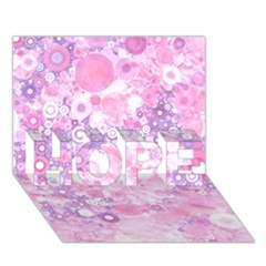 Lovely Allover Ring Shapes Flowers Pink Hope 3d Greeting Card (7x5)