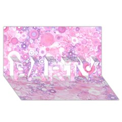 Lovely Allover Ring Shapes Flowers Pink PARTY 3D Greeting Card (8x4)