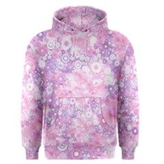 Lovely Allover Ring Shapes Flowers Pink Men s Pullover Hoodies