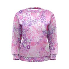 Lovely Allover Ring Shapes Flowers Pink Women s Sweatshirts