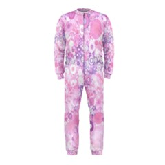 Lovely Allover Ring Shapes Flowers Pink OnePiece Jumpsuit (Kids)