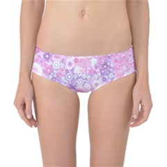 Lovely Allover Ring Shapes Flowers Pink Classic Bikini Bottoms
