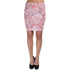 Lovely Allover Ring Shapes Flowers Bodycon Skirts