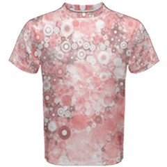 Lovely Allover Ring Shapes Flowers Men s Cotton Tees
