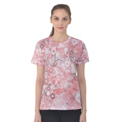 Lovely Allover Ring Shapes Flowers Women s Cotton Tees