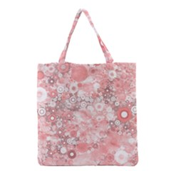Lovely Allover Ring Shapes Flowers Grocery Tote Bags