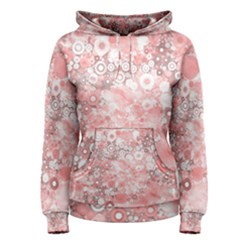 Lovely Allover Ring Shapes Flowers Women s Pullover Hoodies