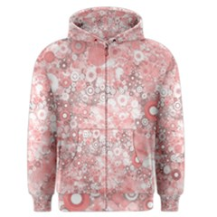Lovely Allover Ring Shapes Flowers Men s Zipper Hoodies