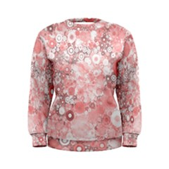 Lovely Allover Ring Shapes Flowers Women s Sweatshirts