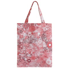 Lovely Allover Ring Shapes Flowers Zipper Classic Tote Bags