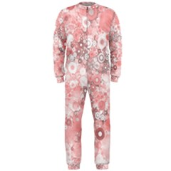 Lovely Allover Ring Shapes Flowers OnePiece Jumpsuit (Men)