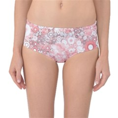 Lovely Allover Ring Shapes Flowers Mid Waist Bikini Bottoms