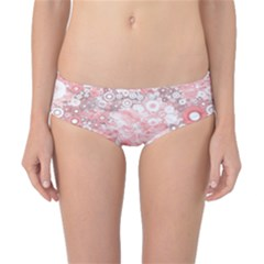 Lovely Allover Ring Shapes Flowers Classic Bikini Bottoms