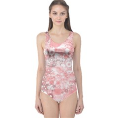 Lovely Allover Ring Shapes Flowers Women s One Piece Swimsuits