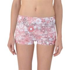 Lovely Allover Ring Shapes Flowers Reversible Boyleg Bikini Bottoms