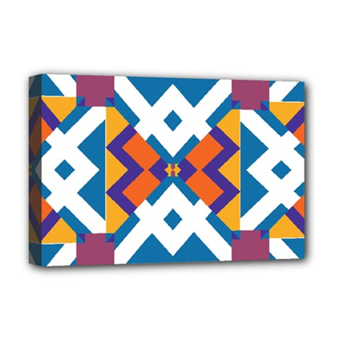 Shapes in rectangles pattern Deluxe Canvas 18  x 12  (Stretched)
