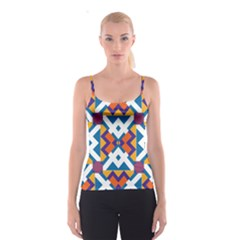 Shapes in rectangles pattern Spaghetti Strap Top
