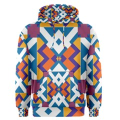 Shapes in rectangles pattern Men s Pullover Hoodie