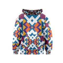 Shapes In Rectangles Pattern Kid s Pullover Hoodie