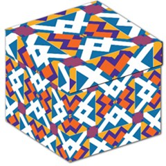 Shapes in rectangles pattern Storage Stool