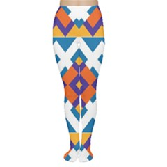 Shapes in rectangles pattern Tights